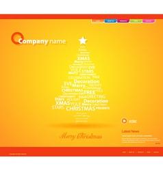 Website christmas template vector