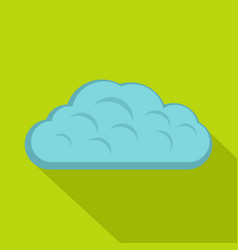 Winter cloud icon flat style vector