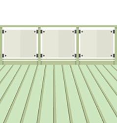 Wooden Balcony With Wooden Floor vector