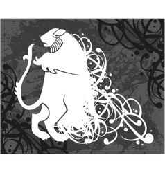 Lion coat of arms vector image