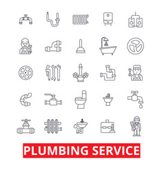 plumbing service pipes heating tools plumber vector image
