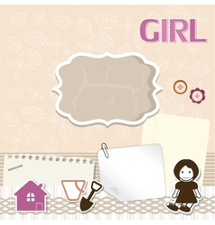 Scrapbook card for baby vector image vector image