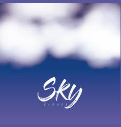 Sky clouds poster with clouds over nightly sky vector