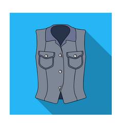 women sleeveless sports jacket beige button-down vector image