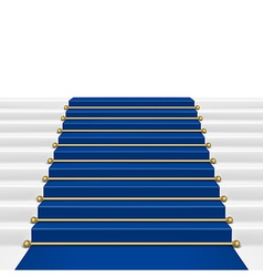 Blue carpet vector image