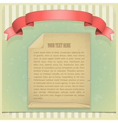 paper red ribbon vector image vector image