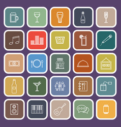 bar line flat icons on purple background vector image vector image