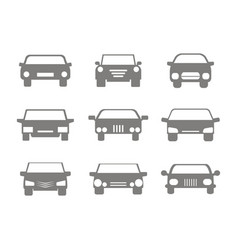 color icons set with cars vector image vector image