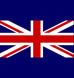 flag of united kingdom national symbol of the vector image