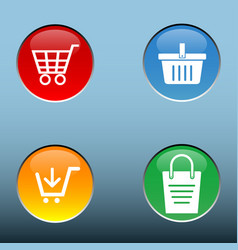 4 button shop now and buy now vector image vector image
