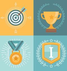 achievement badges vector image vector image