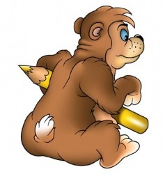bear painter vector image vector image
