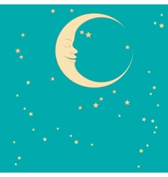 crescent and star vector image