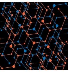 Hexagonal abstract background Eps 10 vector image vector image