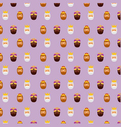 three kings of orient christmas pattern design vector image vector image