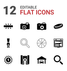 12 detail icons vector image