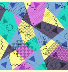 Abstract background in the style of memphis vector