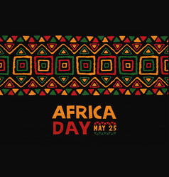 Africa day may 25 colorful ethnic tribal art vector