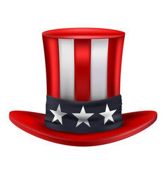 american uncle sam hat vector image