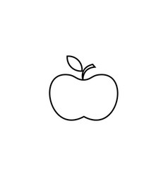 apple icon line icon for infographic website or vector image