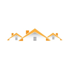 Architectural houses logo vector image vector image