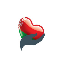 belarus flag on a white vector image