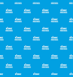 Bionic prosthesis pattern seamless blue vector