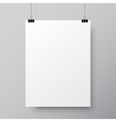 Blank White Poster Template vector image