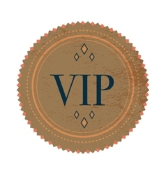 Brown VIP label label vintage style vector image