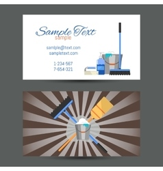 Business card of cleaning service vector
