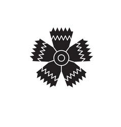 carnation flower black concept icon vector image