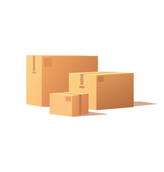 carton packs delivery icons parcel boxes vector image