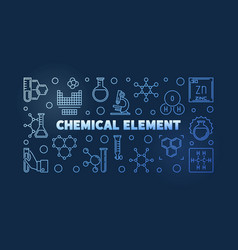 Chemical element blue linear vector