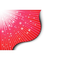 christmas background with red rays vector image