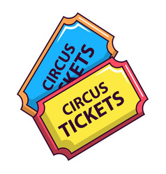 circus tickets icon cartoon style vector image