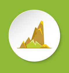 cliff with ledges icon in flat style vector image