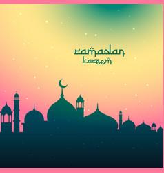 Colorful ramadan kareem festival greeting vector