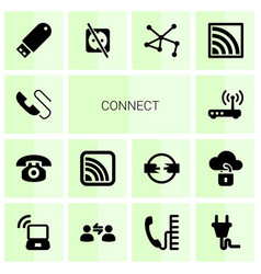 connect icons vector image