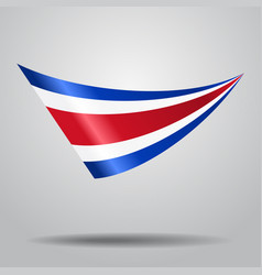 Costa rican flag background vector