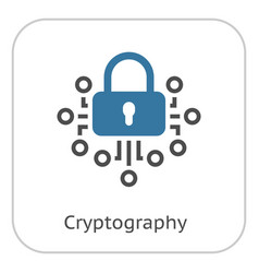 Cryptography icon vector