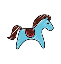 Cute carrousel horse isolated icon vector