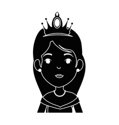 cute fantasy princess character vector image