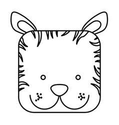 Cute zebra animal head expression vector