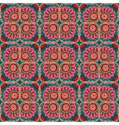 decorative ethnic love heart pattern vector image