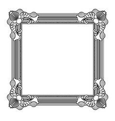 Decorative frame pattern image vector