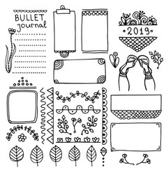 Design element for planner vector