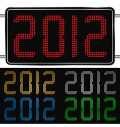 digits of new year 2012 vector image