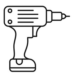 electric wireless drill icon outline style vector image