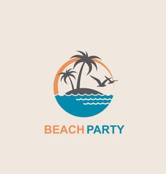 Emblem of summer vacation vector