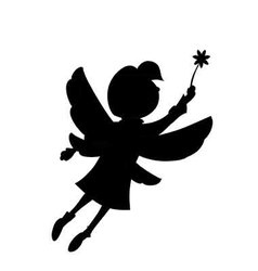 girl flutters its wings flying in the air vector image